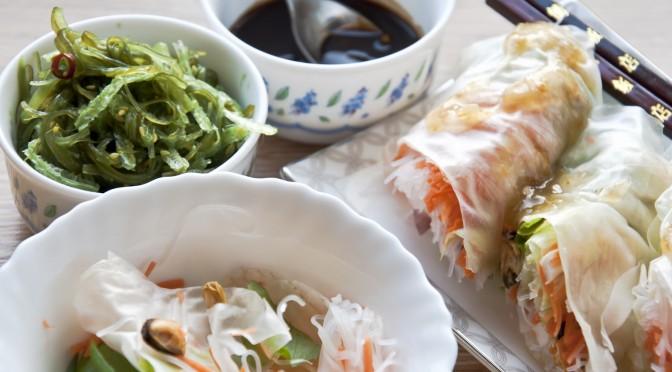Веселые салаты с морепродуктами