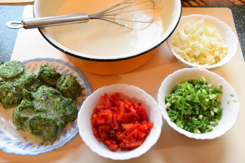Блины со шпинатом
