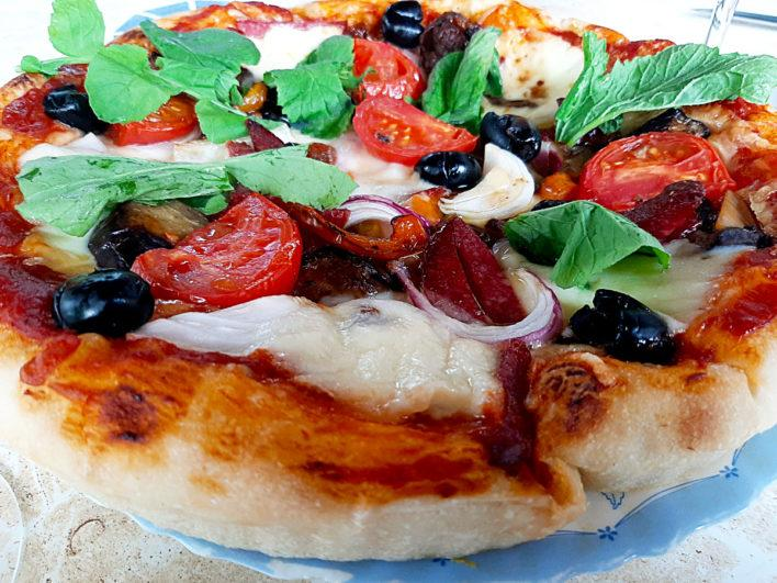 Пицца на холодной опаре